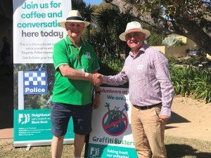Phil Lovel with the Bayside Mayor Cr Clarke Martin (2)